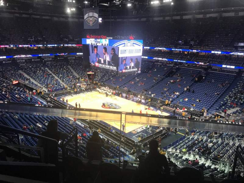 Seating view for Smoothie King Center Section 328 Row 7 Seat 9