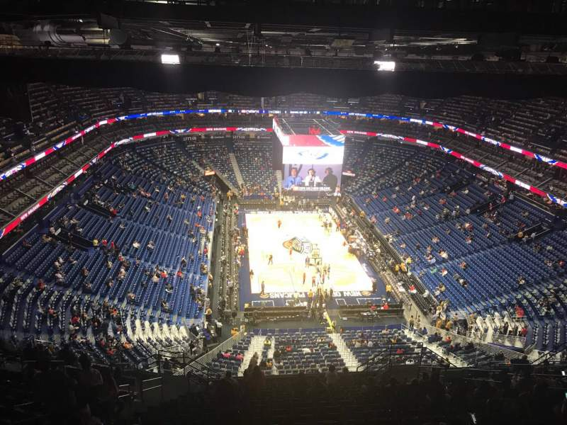 Seating view for Smoothie King Center Section 325 Row 20 Seat 12