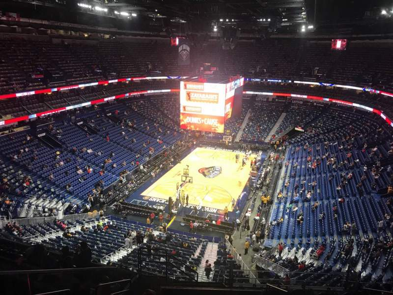 Seating view for Smoothie King Center Section 322 Row 13 Seat 17