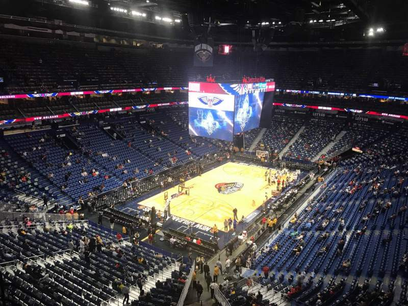 Seating view for Smoothie King Center Section 321 Row 8 Seat 13