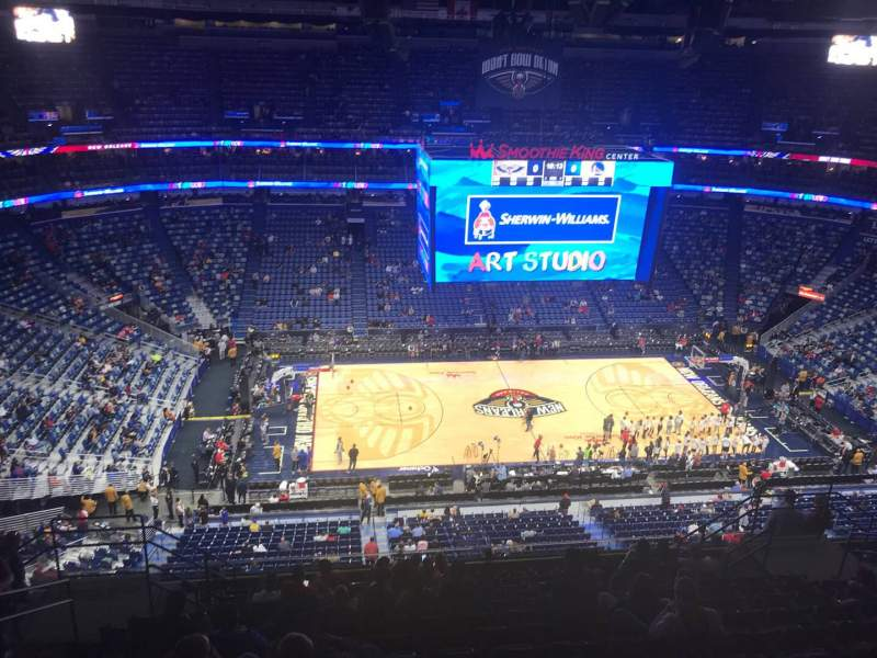 Seating view for Smoothie King Center Section 317 Row 14 Seat 14