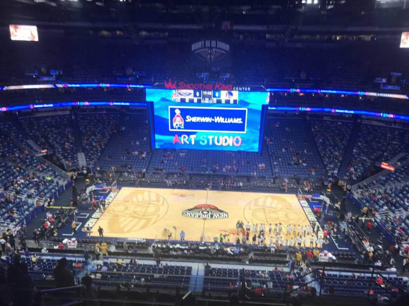 Seating view for Smoothie King Center Section 316 Row 6 Seat 12