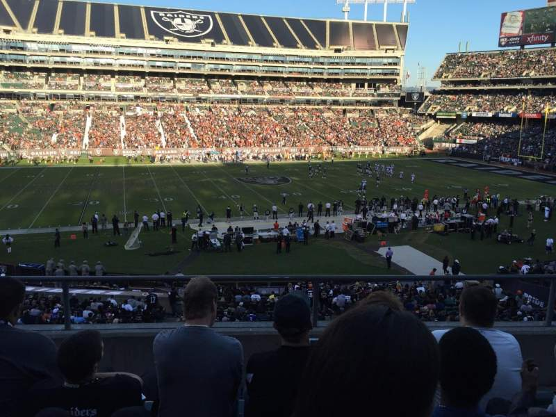 Seating view for Oakland Alameda Coliseum Section 219 Row 4 Seat 3