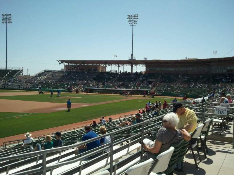 Seating view for Hohokam Stadium Section 118