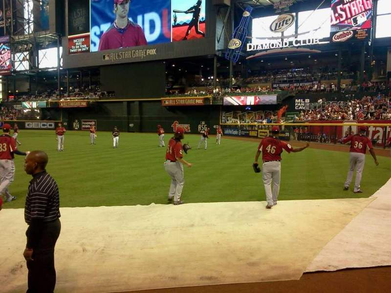 Seating view for Chase Field Section 108 Row 25 Seat 10