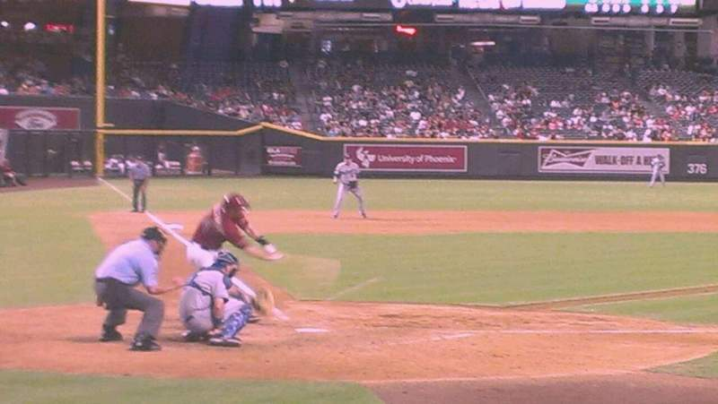 Seating view for Chase Field Section H Row F Seat 10