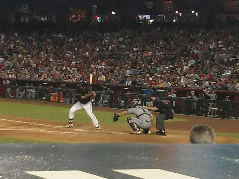 Seating view for Chase Field Section N Row 6 Seat 7