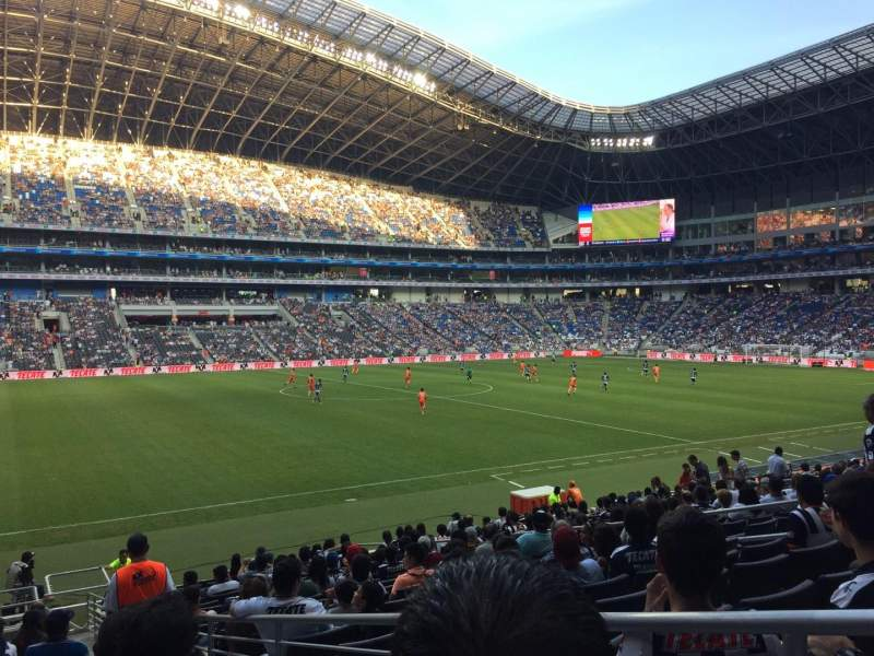 Seating view for Estadio BBVA Bancomer Section 101 Row P Seat 1
