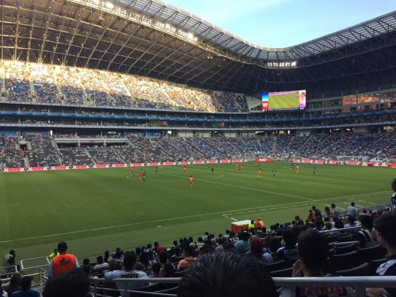 Seating view for Estadio BBVA Section 101 Row P Seat 1