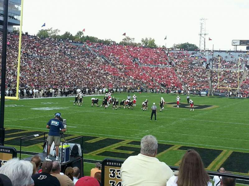 Seating view for Ross-Ade Stadium Section 133 Row 4 Seat 13