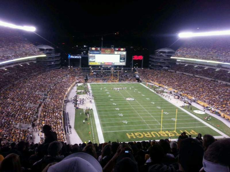 Seating view for Heinz Field Section 520 Row AA Seat 14