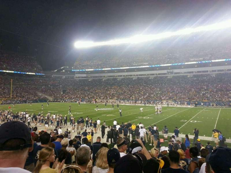 Seating view for Heinz Field Section 137 Row M Seat 4