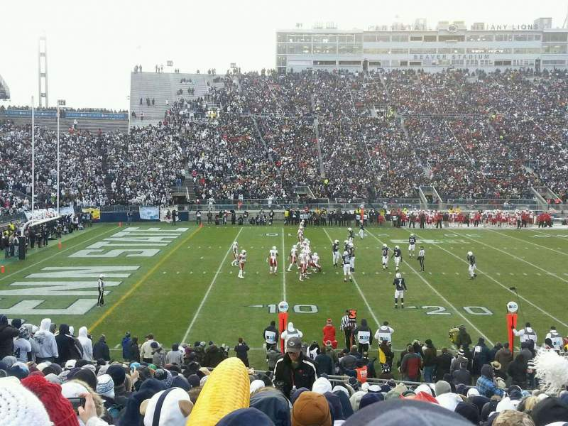 Seating view for Beaver Stadium Section EB Row 12 Seat 13