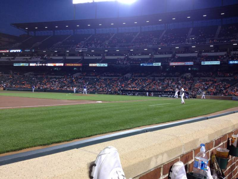 Seating view for Oriole Park at Camden Yards Section 56 Row 1 Seat 10