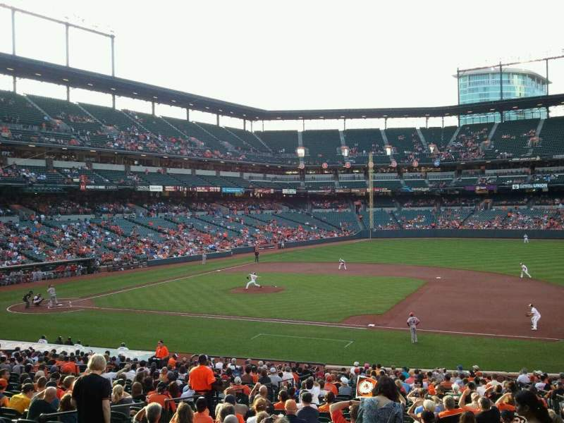 Seating view for Oriole Park at Camden Yards Section 17 Row 1 Seat 10