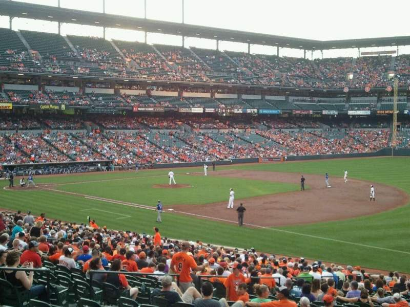 Seating view for Oriole Park at Camden Yards Section 13 Row 1 Seat 6