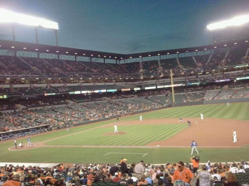 Seating view for Oriole Park at Camden Yards Section 17 Row 1 Seat 2