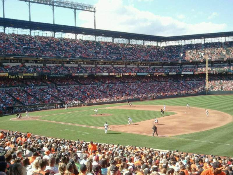 Seating view for Oriole Park at Camden Yards Section 13 Row 1 Seat 16