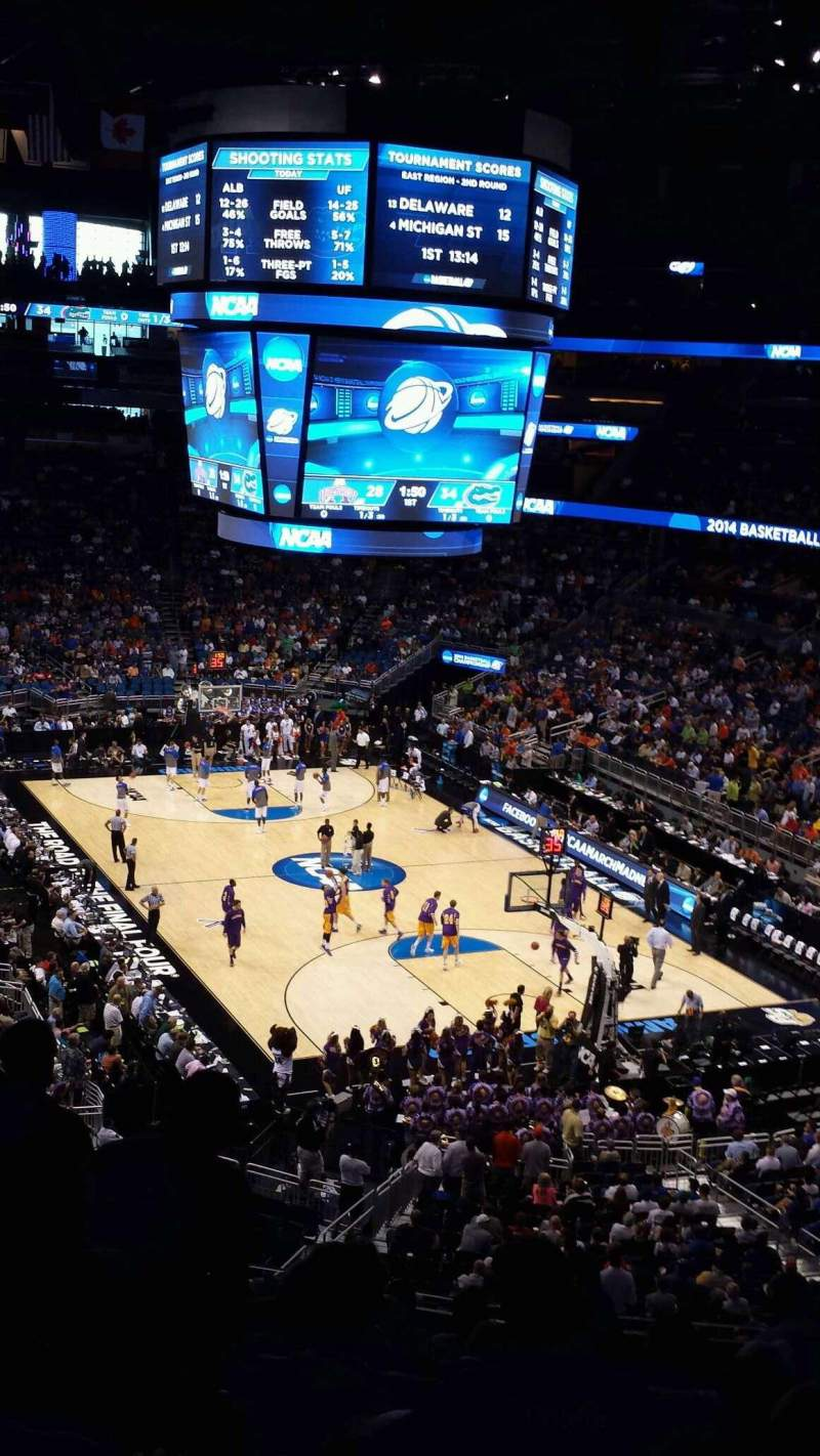 Seating view for Amway Center Section 111A Row 33 Seat 31