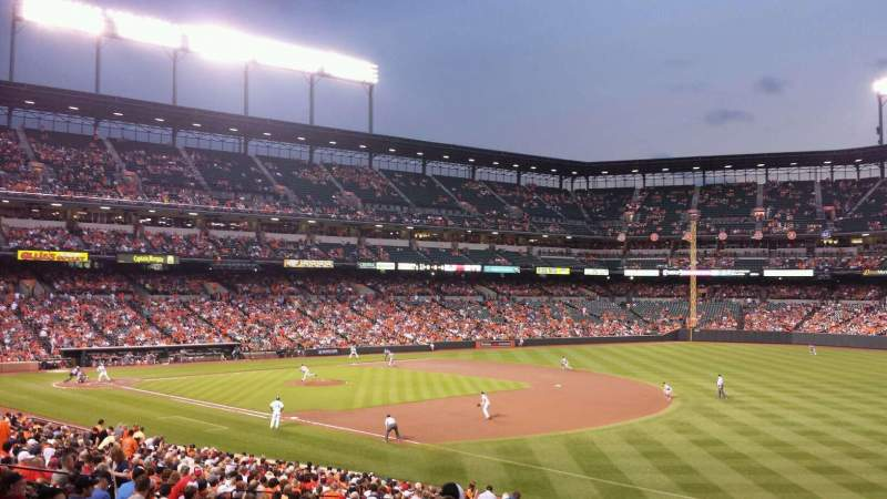Seating view for Oriole Park at Camden Yards Section 11 Row 1 Seat 13