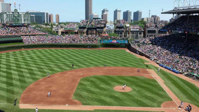 Seating view for Wrigley Field Section 415 Row 10 Seat 104