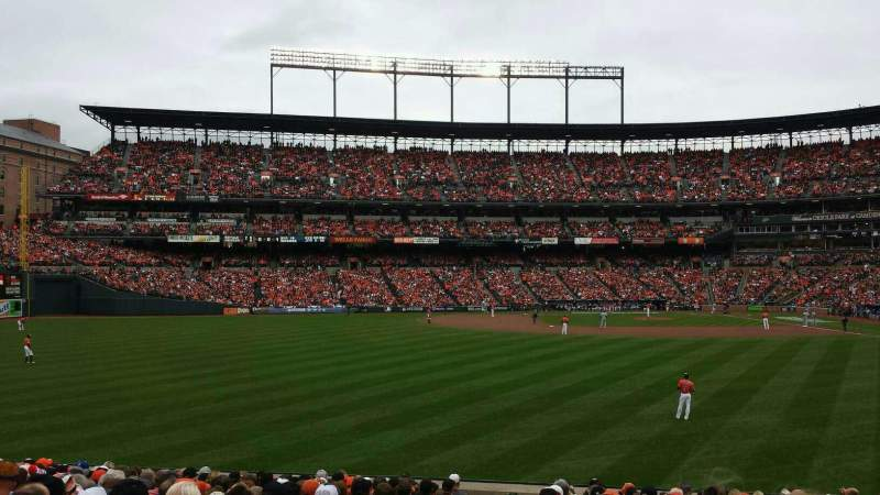 Seating view for Oriole Park at Camden Yards Section 82 Row 18 Seat 19