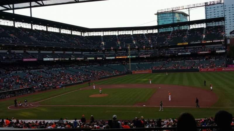 Seating view for Oriole Park at Camden Yards Section 17 Row 5 Seat 18