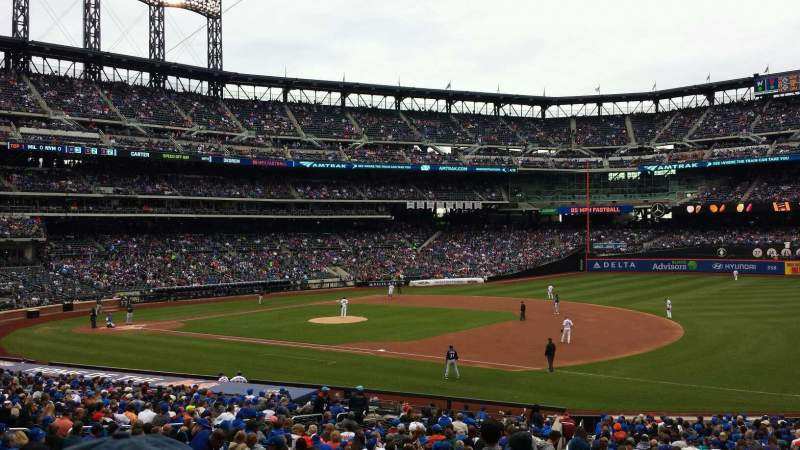 Seating view for Citi Field Section 110 Row 29 Seat 1
