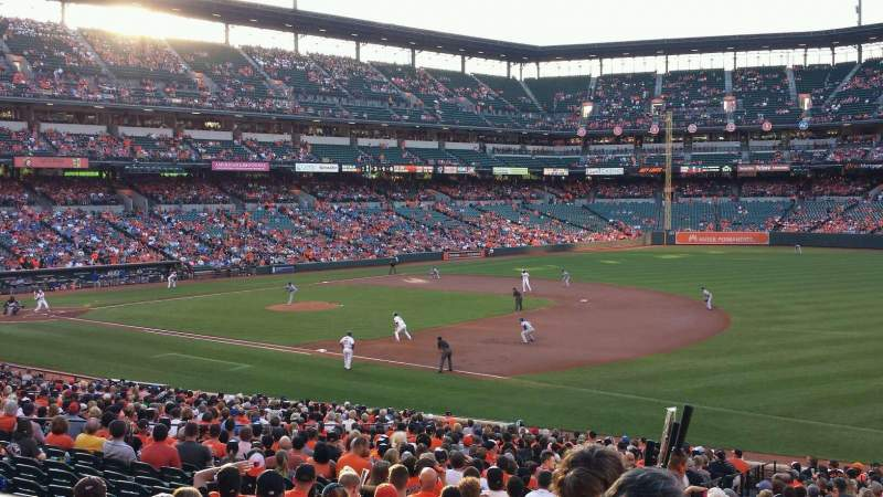 Seating view for Oriole Park at Camden Yards Section 13 Row 1 Seat 13