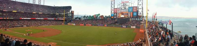 Seating view for AT&T Park Section 202 Row E Seat 12