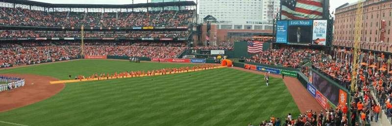 Seating view for Oriole Park at Camden Yards Section 210 Row 2 Seat 9