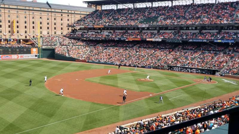 Seating view for Oriole Park at Camden Yards Section 260 Row 1 Seat 2