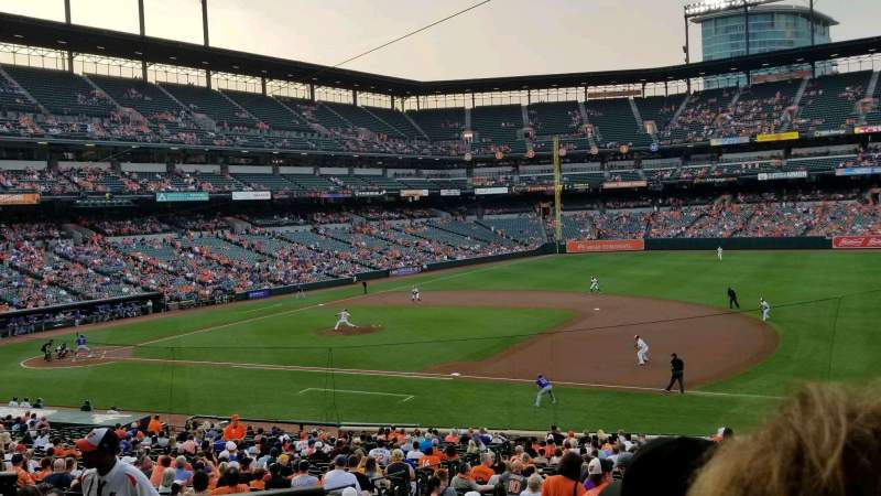 Seating view for Oriole Park at Camden Yards Section 15 Row 4 Seat 14