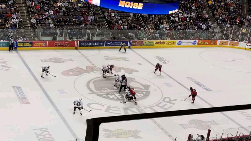 Seating view for Giant Center Section 218 Row 2 Seat 2