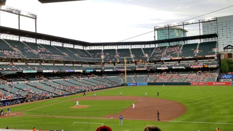 Seating view for Oriole Park at Camden Yards Section 17 Row 6 Seat 2