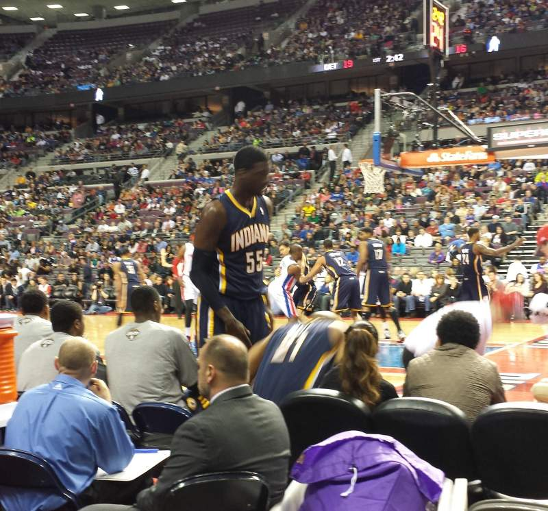 Seating view for The Palace of Auburn Hills Section 112 Row AA Seat 7