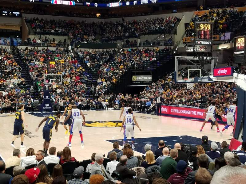 Seating view for Bankers Life Fieldhouse Section 12 Row 11 Seat 6
