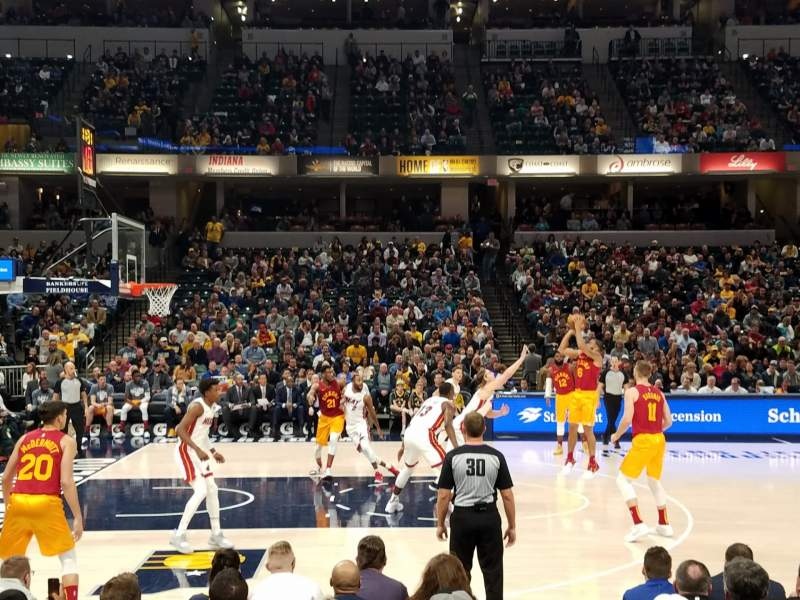 Seating view for Bankers Life Fieldhouse Section 17 Row 10 Seat 8