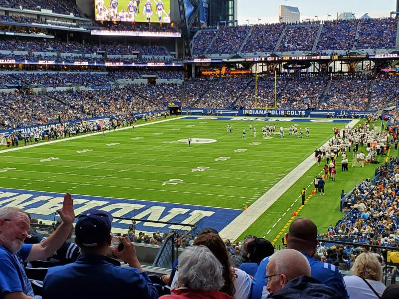 Seating view for Lucas Oil Stadium Section 223 Row 11 Seat 6