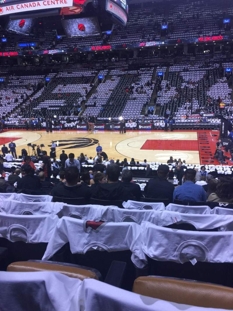 Seating view for Air Canada Centre Section 107 Row 19 Seat 13