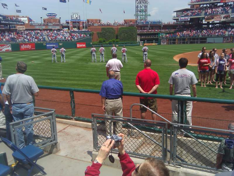 Seating view for Citizens Bank Park Section 132 Row 2 Seat 12