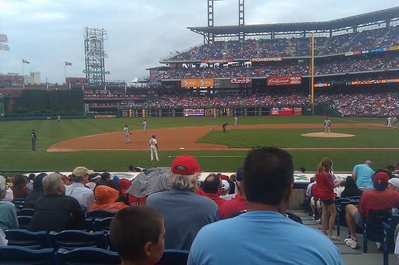 Seating view for Citizens Bank Park Section 131 Row 15 Seat 1