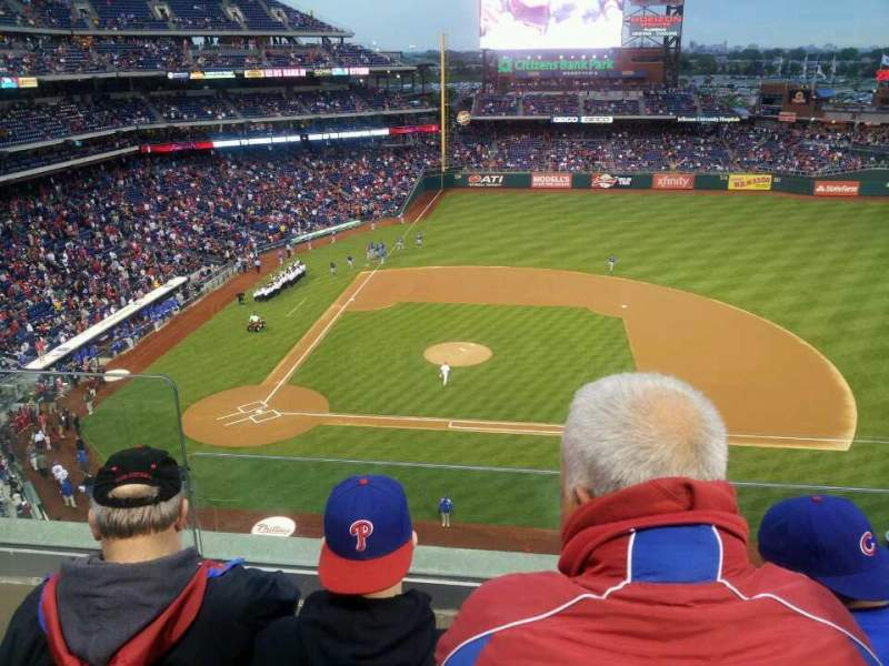 Seating view for Citizens Bank Park Section 315 Row 3 Seat 22