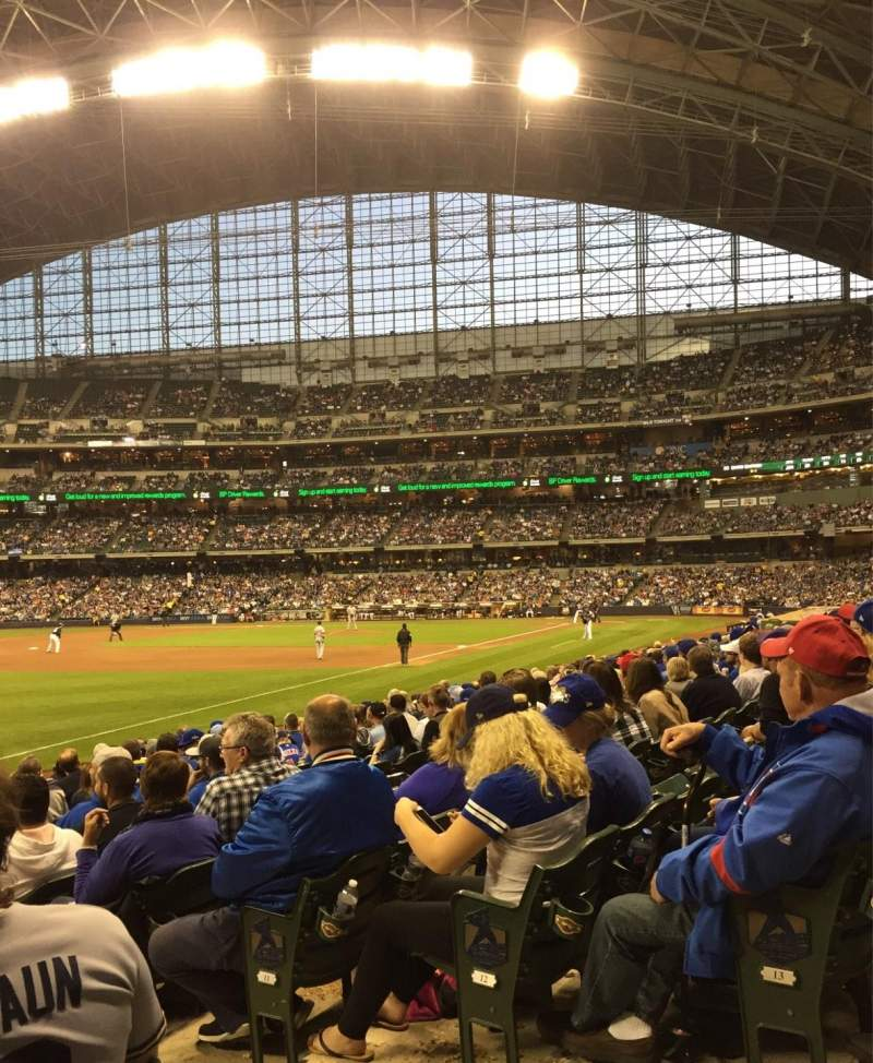 Seating view for Miller Park Section 128 Row 14 Seat 3