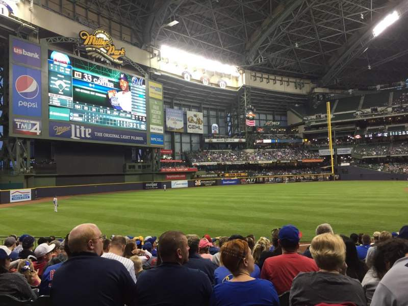 Seating view for Miller Park Section 128 Row 14 Seat 4