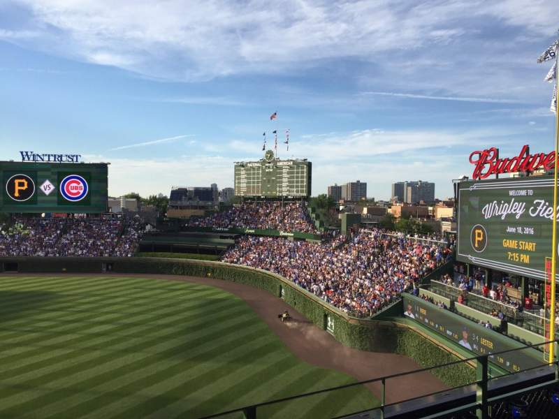 Seating view for Wrigley Field Section 436 Row 3 Seat 2