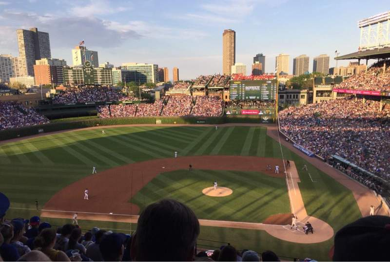Seating view for Wrigley Field Section 416 Row 10 Seat 4