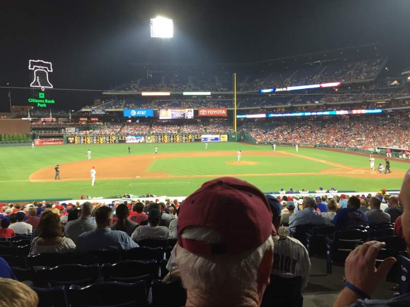 Seating view for Citizens Bank Park Section 131 Row 26 Seat 2