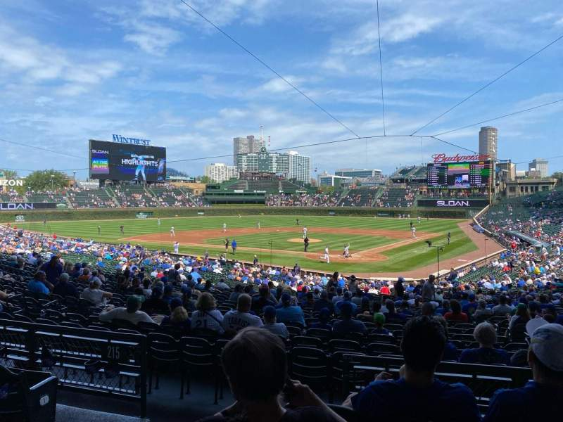 Seating view for Wrigley Field Section 216 Row 4 Seat 2