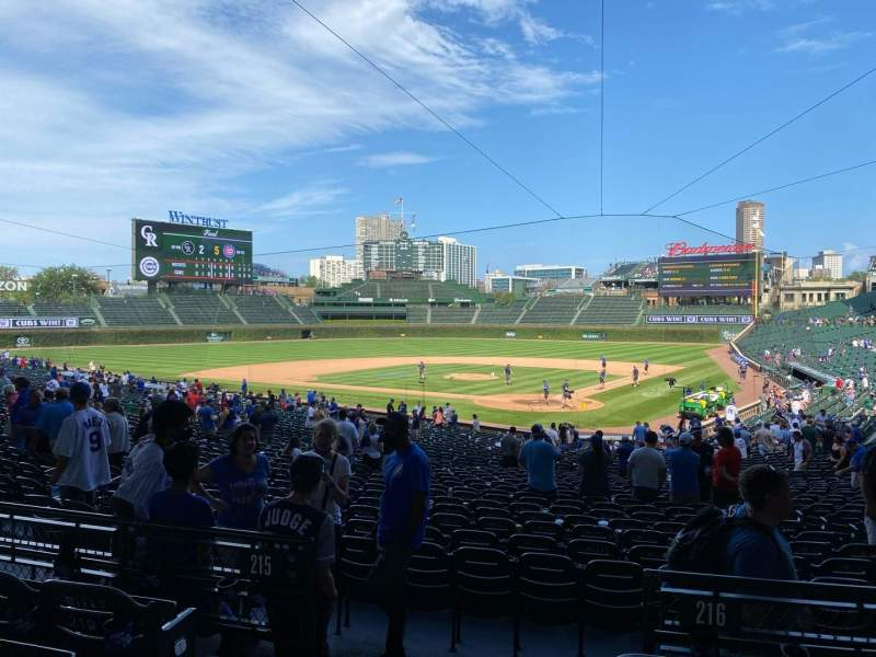 Seating view for Wrigley Field Section 216 Row 4 Seat 1